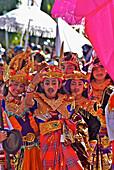Scholars wearing balinese costumes, Klunkung, Bali, Indonesia, Asia