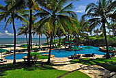 Le Meridien Resort at the coast under blue sky, South Bali, Indonesia, Asia