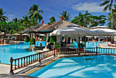 The big pool of Nusa Dua Beach Hotel in the sunlight, Nusa Dua, South Bali, Indonesia, Asia
