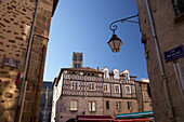 Old city of Limoges in the morning light with half-timbered house, , The Way of St. James, Chemins de Saint-Jacques, Via Lemovicensis, Limoges, Dept. Haute-Vienne, Région Limousin, France, Europe