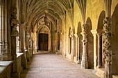 Cloister and Vault in Abbaye de Cadouin, The Way of St. James, Roads to Santiago, Chemins de Saint-Jacques, Via Lemovicensis, Cadouin, Dept. Dordogne, Région Aquitaine, France, Europe