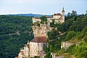 View of Rocamadour, The Way of St. James, Roads to Santiago, Chemins de Saint-Jacques, Via Podiensis, Dept. Lot, Région Midi-Pyrénées, France, Europe