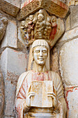 Eglise Saint Just at Valcabrère, West door, Sculpted, The Way of St. James, Chemins de Saint Jacques, Chemin du Piémont Pyrénéen, Dept. Haute-Garonne, Région Midi-Pyrenées, France, Europe