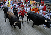 Afraid, Animal, Animals, Brave, Bravery, Bull, Bulls, Celebrate, Celebrating, Celebration, Celebrations, Color, Colour, Contemporary, Courage, Danger, Encierro, Europe, Exciting, Exterior, Fear, Festival, Festivals, Fighting bull, Fighting bulls, Folk, Fo