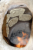 Traditional baked bread. Yazd. Iran