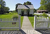 Birth home of Hoover at Herbert Hoover Presidential Museum and National Historic Site at West Branch, Iowa, USA