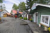 Historical Buildings in Pioneer Park Fairbanks Alaska Alaska Highway ALCAN Al-Can U S United States