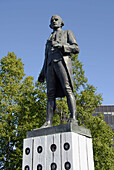 Statue of Captain James Cook Display Commemoration Commemorative in ook Inlet Resolution Park Anchorage Alaska AK U S United States