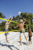 Beach 2 on 2 volleyball played at The Pier Beach Naples Florida