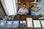 Hand made cigar vendor at Key West Florida
