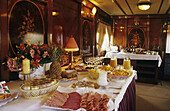 Breakfast in Al Andalus Express Train. Andalusia, Spain.