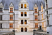 Castle of Azay-le-Rideau, built from 1518 to 1527 by Gilles Berthelot in Renaissance style, on the list of World Cultural Heritage sites of UNESCO, Indre et Loire province, France