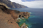 Botany, Canarias, Canaries, Canary Islands, Color, Colour, Daytime, Exterior, Nature, Outdoor, Outdoors, Outside, Plant, Plants, Punta Teno, Remote, Rock, Rocks, Scenic, Scenics, Sea, Spain, Tenerife, Vegetation, World locations, N40-696402, agefotostock