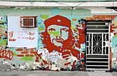 Che Guevara mural painting, Havana. Cuba