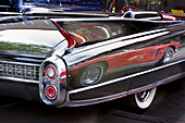 America, Antique, Auto, Automobile, Black, Bumper, Cadillac, Car, Chrome, Classic, Color, Colour, Corvette, Curves, General Motors, GMC, Light, Old, Red, Reflection, Show, Tail, Tires, Usa, Wall, White, S19-656842, agefotostock