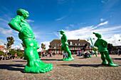 Sculptures Travelling Gigants, Westerland, Sylt Island, Schleswig-Holstein, Germany
