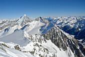 Berglandschaft in Winter, Naturpark Rieserferner Ahrn, Rieserfernergruppe, Südtirol, Italien