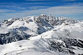 Berglandschaft in Winter, Seiser Alm, Durontal, Molignon, Saltria, Südtirol, Italien