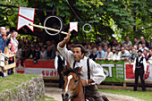 Ring Jousting, Tournament, Oswald von Wolkenstein Ritt, Event 2005, Kastelruth, South Tyrol, Italy