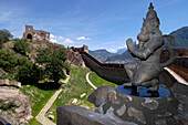 Asiatic sculpture, Messner Mountain Museum Firmian, MMM, Sigmundskron Castle, Reinhold Messner, Bolzano, South Tyrol, Italy