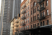 Late day sun on Tribeca, NYC, buildings