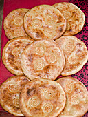 Delicious and fresh nan in bakery in Peshawar, Pakistan