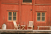 Wooden house in the city of Porvoo, Finland.
