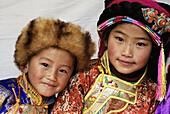 Tibetan children. Festival. Danba. Sichuan