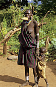A visit to a Surma village along the Kibish river, south west Ethiopia