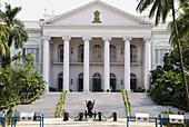 government house portico, kolkata, india