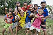 kids on south coast, Ternate, Indonesia