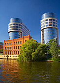 with the houseboat through Berlin Tiergarten, Ministry of the Interior, Spree, Germany, Europe