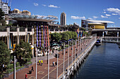 Cockle Bay Wharf and IMAX Theatre at Darling Harbour, Sydney, New South Wales, Australia