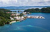 Aerial View on Koror Capital, Micronesia, Palau
