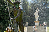 Neptune fountain in front of stairs at the Giardino di Boboli,  Florence, Tuscany, Italy, Europe