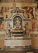 The tomb of Galileo Galilei at the Santa Croce church, Florence, Tuscany, Italy, Europe