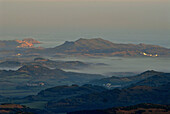 Northern coast with Cap de Cavallaria from Monte Toro at sunrise, Minorca, Balearic Islands, Spain