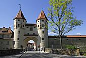 Nabburg Gate to Old Town, Amberg, Upper Palatinate, Bavaria, Germany