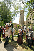 Middle age festival, Sommersdorf castle, Middle Franconia, Bavaria, Germany