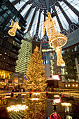 Christmas market at Potsdamer Platz, Sony Center, Berlin, Germany
