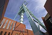 Shaft tower, German Museum of Mining, Bochum, Ruhr area, North Rhine-Westphalia, Germany
