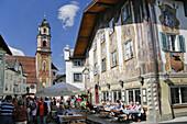 Pedestrian area, Mittenwald, Upper Bavaria, Bavaria, Germany