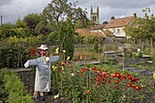 Helmsley, gardens, All Saints Church, North Yorkshire, UK
