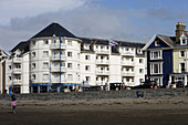 Aberystwyth, Marine Terrace, typical buildings, Ceredigion, Wales, UK