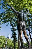 Rocky balboa statue eakins oval  Philadelphia  Pennsylvania  USA