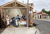 Wall painting at the village of Tinnura. Sardinia, Italy