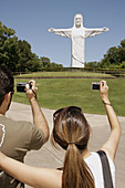 Arkansas, Eureka Springs, Christ of the Ozarks, statue, giant Jesus, religion, New Testament, Christianity, Hispanic, man, woman, couple, digital camera, Magnetic Mountain, monumental, size, modern, minimalist, controversial