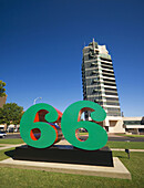 USA Oklahoma Bartlesville Price Tower Frank Lloyd Wrights tallest skyscraper Sixty-Six by Robert Indiana inspired by Phillips 66 Petroleum Company logo