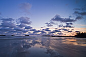 Pacific Rim sunset- MacKenzie Beach and outer islands at ebbing tide
