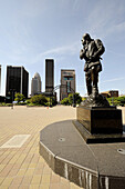 George Rogers Clark statue at Belvedere Waterfront Park downtown Louisville Kentucky KY